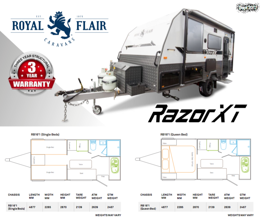 Royal Flair Razor XT Floor plan