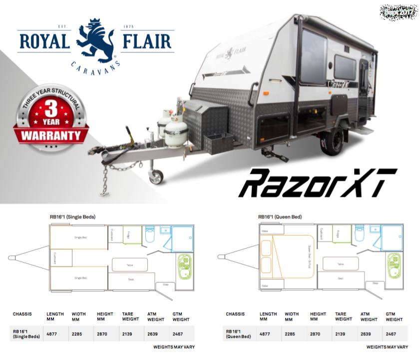 Royal Flair Razor XT Floor plan